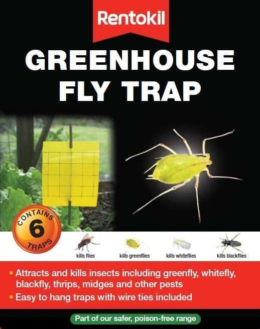 Rentokil Greenhouse Fly Trap - 6 Traps